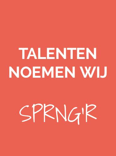 Talenten noemen wij SPRNG'R